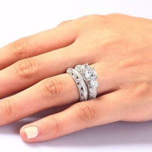 Set inele din argint Luxury Diamond Queen's Ring