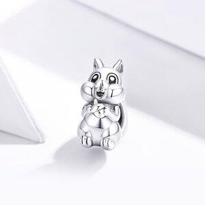 Talisman din argint Acorn Squirrel