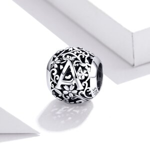 Talisman din argint Alphabet Letter A