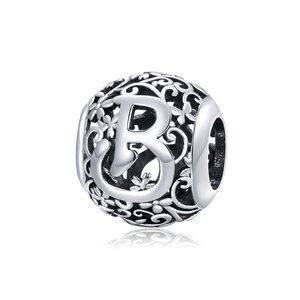 Talisman din argint Alphabet Letter B