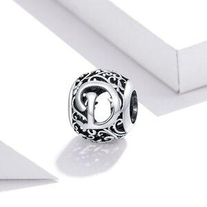 Talisman din argint Alphabet Letter D