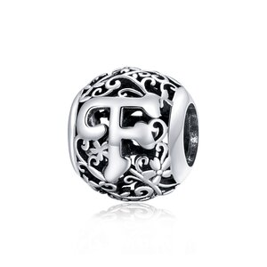 Talisman din argint Alphabet Letter F