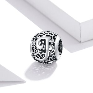 Talisman din argint Alphabet Letter J