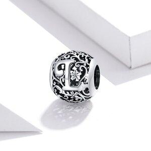 Talisman din argint Alphabet Letter L