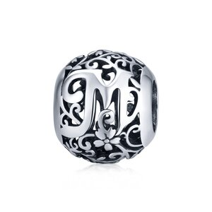 Talisman din argint Alphabet Letter M