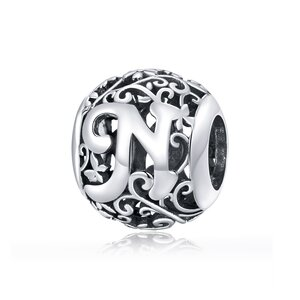 Talisman din argint Alphabet Letter N