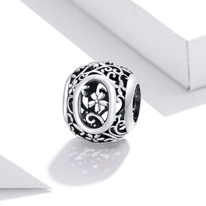 Talisman din argint Alphabet Letter O
