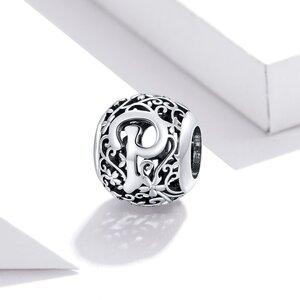 Talisman din argint Alphabet Letter P