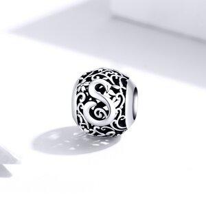 Talisman din argint Alphabet Letter S