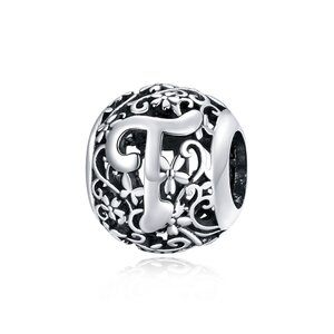 Talisman din argint Alphabet Letter T