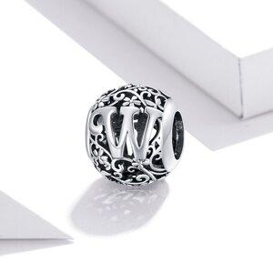 Talisman din argint Alphabet Letter W
