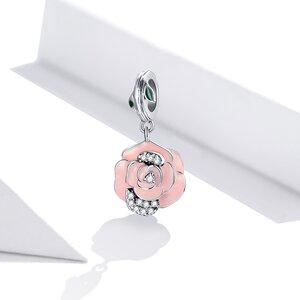 Talisman din argint Amazing Pink Rose