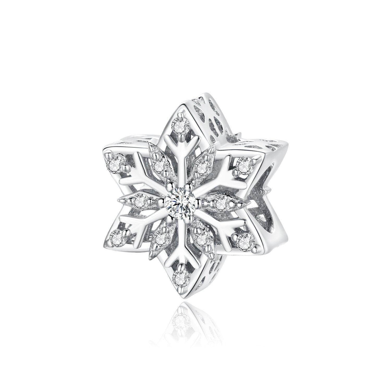 Talisman din argint Amazing Shiny Snowflake poza 2021