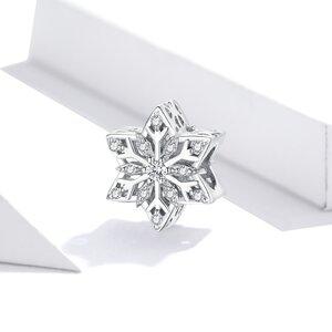 Talisman din argint Amazing Shiny Snowflake