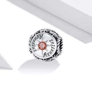 Talisman din argint Aquarius Zodiac Sun