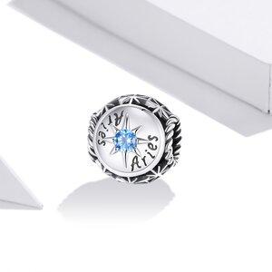 Talisman din argint Aries Zodiac Sun