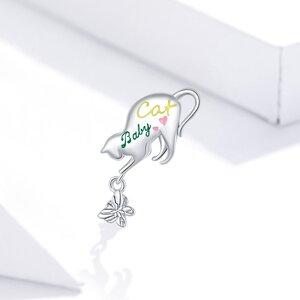 Talisman din argint Baby Butterfly Cat