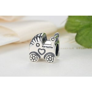 Talisman din argint Baby Carriage