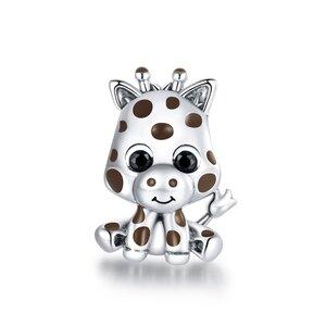 Talisman din argint Baby Giraffe