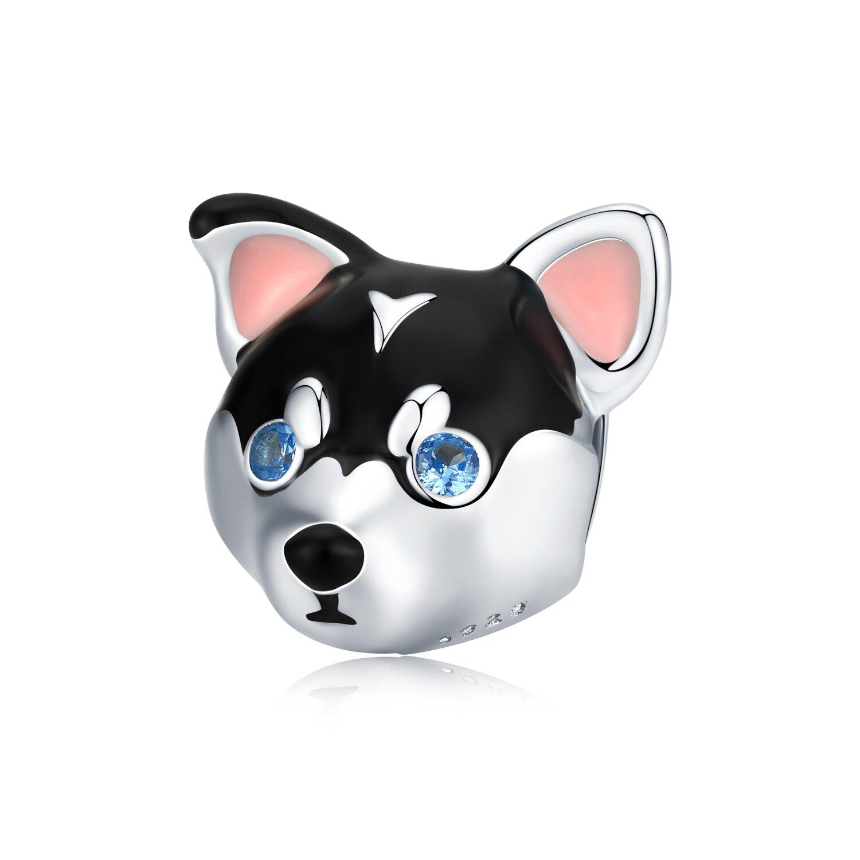 Talisman din argint Baby Husky poza 2021