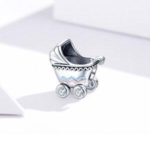 Talisman din argint Baby Stroller