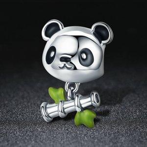 Talisman din argint Bamboo Panda