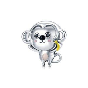 Talisman din argint Banana Monkey