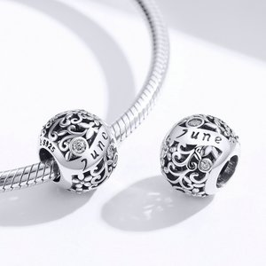 Talisman din argint Birthday Stone June