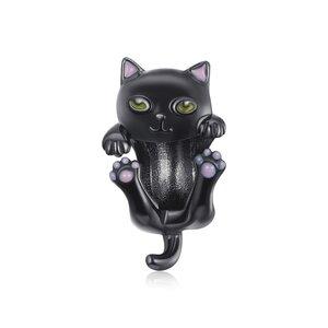 Talisman din argint Black Kitty