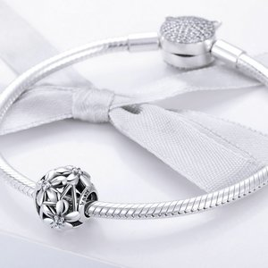 Talisman din argint Blooming Silver Flowers