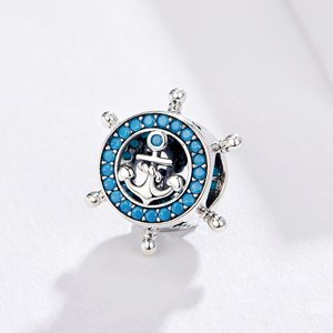 Talisman din argint Blue Anchor Wheel