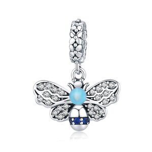 Talisman din argint Blue Bee