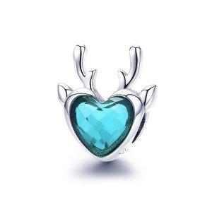 Talisman din argint Blue Crystal Elk