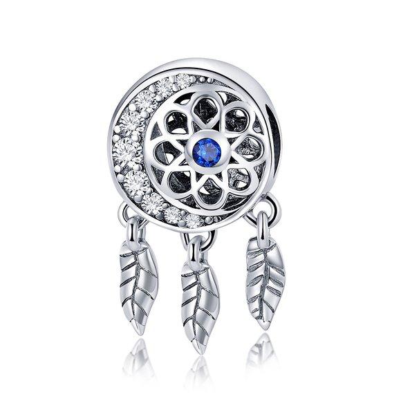 Talisman din argint Blue Dream Catcher