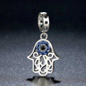 Talisman din argint Blue Eye Hand