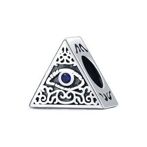 Talisman din argint Blue Eye Pyramid