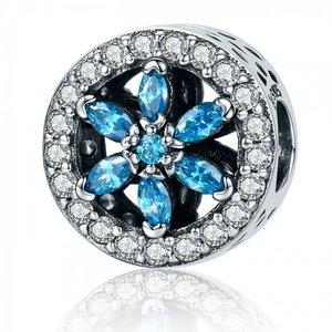Talisman din argint Blue Flower