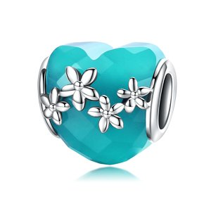 Talisman din argint Blue Flowers