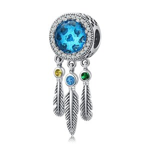 Talisman din argint Blue Glass Catcher