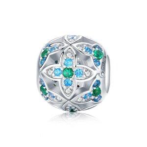 Talisman din argint Blue Lotus Flowers