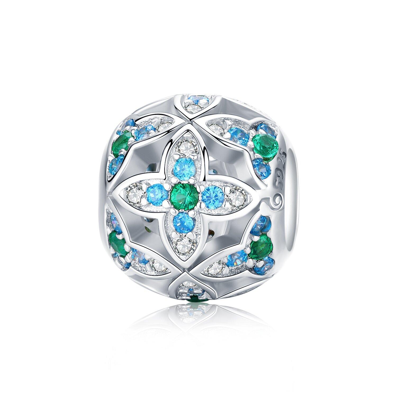 Talisman din argint Blue Lotus Flowers poza 2021
