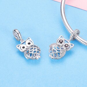 Talisman din argint Blue Owl