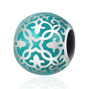 Talisman din argint Blue Porcelain