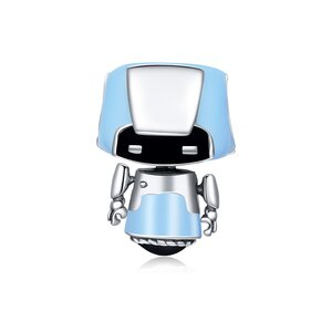 Talisman din argint Blue Robbot