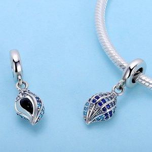 Talisman din argint Blue Shell