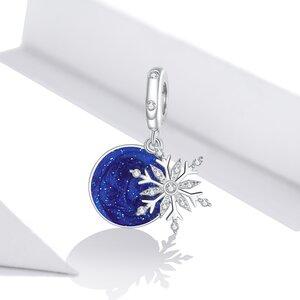Talisman din argint Blue Sky Snowflake