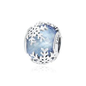 Talisman din argint Blue Snowflake Bead