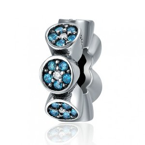 Talisman din argint Blue Spacer
