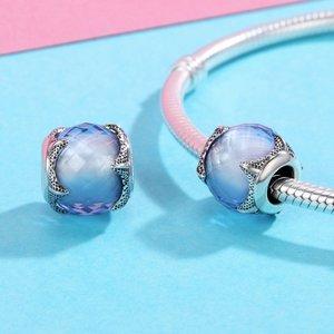 Talisman din argint Blue Starfish