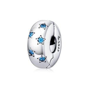 Talisman din argint Blue Stars Clips